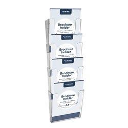 Folderhouder OPUS 2 A4 wand staand koppelbaar acryl